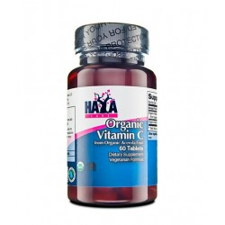 Haya Labs Organic Vitamin C from Organic Acerola fruit | 60 tabs