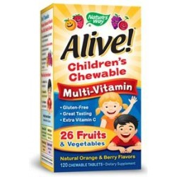 Nature's Way Alive Children's Multi-Vitamin Chewable | 120 tabs