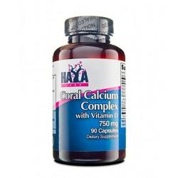 Haya Labs Coral Calcium Complex 750mg | 90 caps