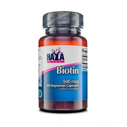 Haya Labs Biotin 500mcg | 60 vcaps