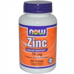 NOW Zinc 50mg | 250 tabs