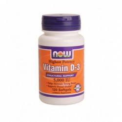 NOW Vitamin D-3 5000IU | 120 sgels