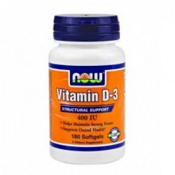 NOW Vitamin D-3 400IU | 180 sgels