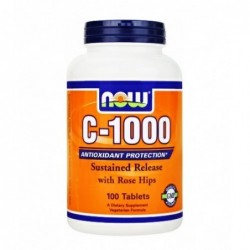 NOW Vitamin C 1000mg Sustained Release with Rose Hips   100 tabs