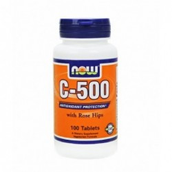 NOW Vitamin C 500mg with Rose Hips   100 tabs