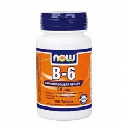 NOW Vitamin B-6 50mg | 100 tabs