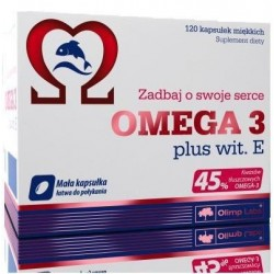 OLIMP Omega-3 plus Vitamin E 500mg | 120 caps