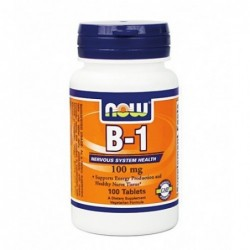 NOW Vitamin B-1 Thiamine 100mg | 100 tabs