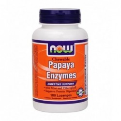 NOW Papaya Enzymes | 180 lozenges