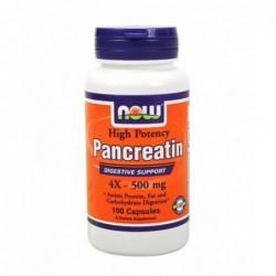 NOW Pancreatin 4X 500mg   100 caps