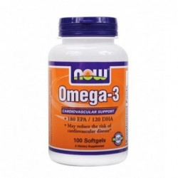 NOW Omega-3 Fish Oil 1000mg | 100 sgels
