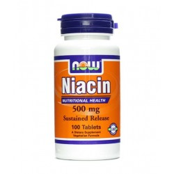 NOW Niacin 500mg | 100 tabs