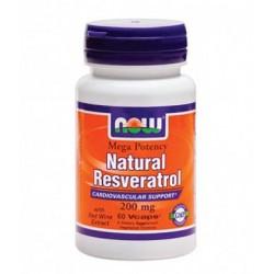 NOW Natural Resveratrol 200mg | 60 vcaps