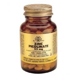 Solgar Zinc Picolinate 22mg | 100 tabs