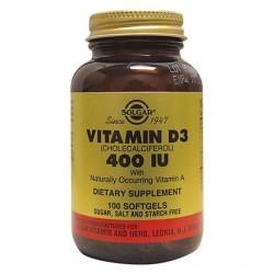 Solgar Vitamin D3 400iu | 100 caps