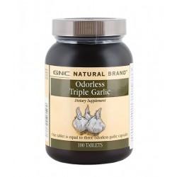 GNC Natural Brand Odorless Triple Garlic | 100 tabs