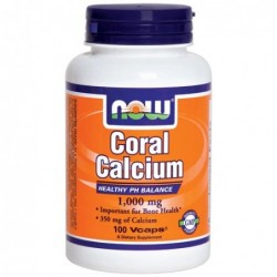 NOW Coral Calcium 1000mg 100 vcaps | 100 vcaps
