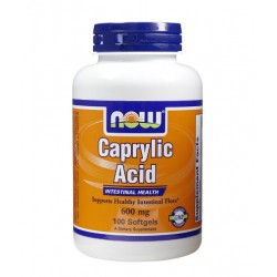 NOW Caprylic Acid 600mg | 100 sgels