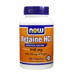 NOW Betaine HCL 648mg | 120 caps