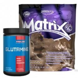 STACK ME: Syntrax Matrix 5.0 / Prolab Glutamine Powder 0.400 kg