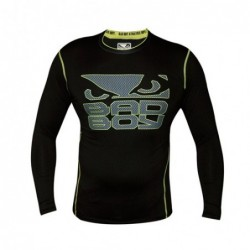 Bad Boy Carbon Rash Vest Black/Green