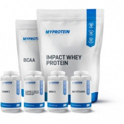 STACK ME: MYPROTEIN Треньорски Месечен Пакет | 1.000kg + 0.500kg + 90 sgels + 60 tabs + 60 t