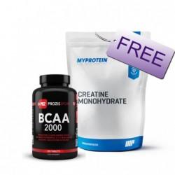 Promo Pack - Prozis BCAA + Myprotein Creatine   200 tabs + 0.500kg