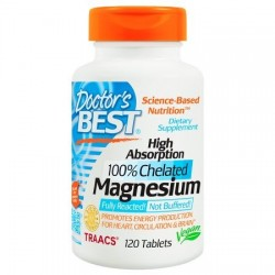 Doctor's Best High Absorption 100% Chelated Magnesium | 120 tabs
