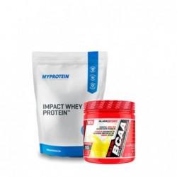 СТАК №3 - Суроватъчен протеин + БЦАА | 1.000kg + 0.250kg