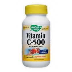 Nature's Way Vitamin C-500 with Rose Hips | 100 caps