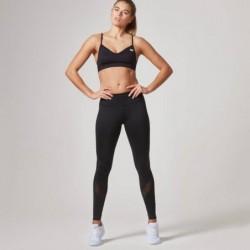 Myprotein Women\'s Core Full Length Leggings Mesh Black