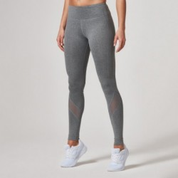 Myprotein Women's Core Full Length Leggings Mesh Grey