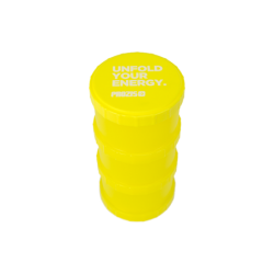 Prozis Powder Container Yellow Unfold Your Energy | 3 x 180ml