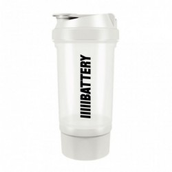 Battery Nutrition Shaker Plus White
