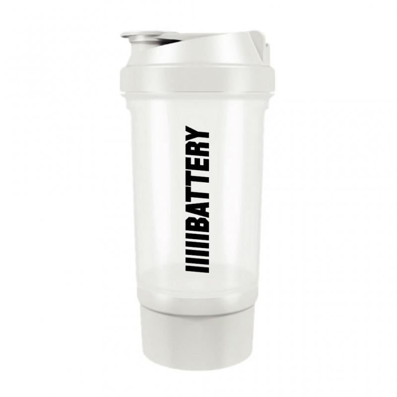 Battery Nutrition Shaker Plus White
