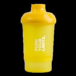 Prozis Nano Shaker Yellow - Push Your Limits   300ml + 150ml