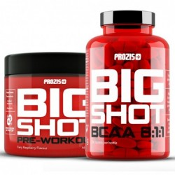 Комбо Оферта - Prozis Big Shot - Pre-Workout + BCAA 8:1:1 | 0.300kg + 200 tabs