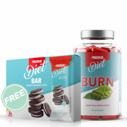 Комбо Оферта - Prozis Diet Burn + Diet Bar FREE | 60 caps + 3 bars