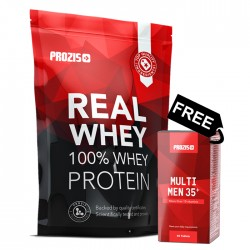 Prozis 100% Real Whey Protein + Prozis Multi Men 35+ FREE