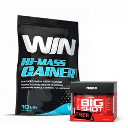 Win Hi-Mass Gainer + Prozis Big Shot Pre-workout FREE