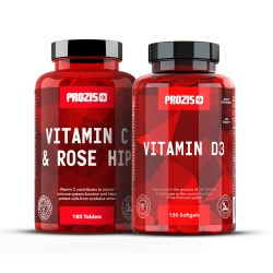 Prozis Vitamin C 500mg + Prozis Vitamin D3