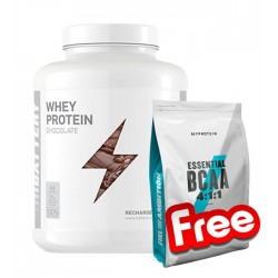Battery Whey Protein + Myprotein BCAA 4:1:1 Unflavoured 1+1 FREE
