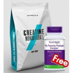 1+1 FREE - Myprotein Creatine Monohydrate + Natrol My Favorite Multiple Energizer
