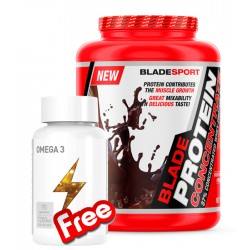 1+1 FREE - Blade Protein Concentrate + Battery Omega-3