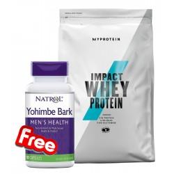 1+1 FREE - Myprotein Impact Whey Protein + Natrol Yohimbe