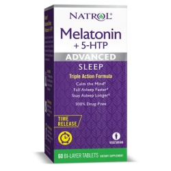 Natrol Advanced Sleep Melatonin + 5-HTP | 60 tabs