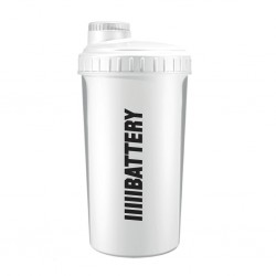 Battery Nutrition Shaker White