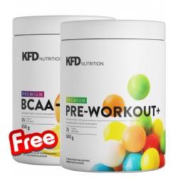 1+1 FREE - KFD Premium Pre Workout+ + KFD Premium BCAA Instant+