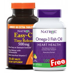 1+1 FREE - Natrol Easy C + Natrol Omega-3