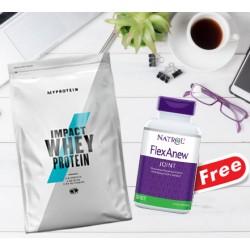 1+1 FREE - Myprotein Impact Whey Protein + Natrol FlexAnew FREE